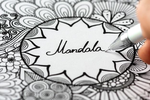 Beau concept de design de mandala