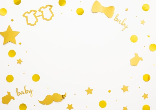 Beau concept de douche de bébé avec espace copie