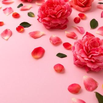 Beau concept floral de la saint-valentin