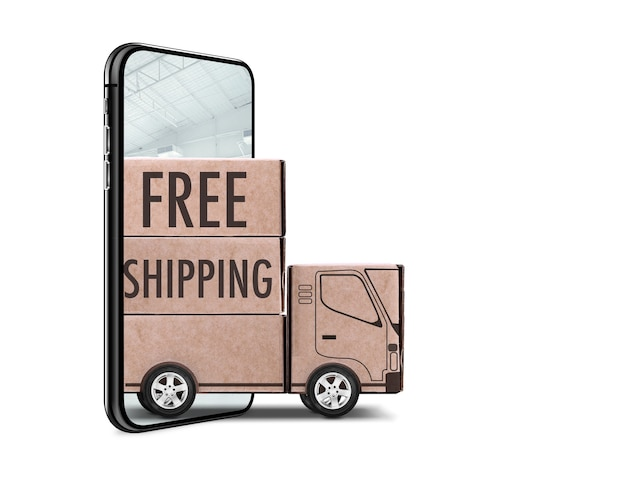 Beau concept de livraison gratuite isolé