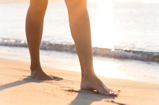 Beau concept de mode de vie de plage