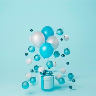 Beau concept de noël avec des boules de noël