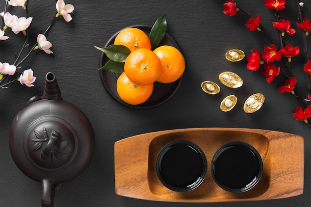 Beau concept de nouvel an chinois