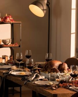 Beau concept de repas de thanksgiving