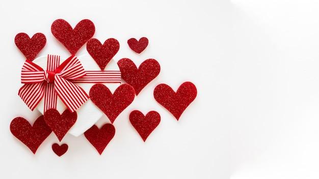 Beau concept de la saint-valentin avec espace copie