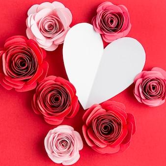 Beau concept de la saint-valentin avec des roses