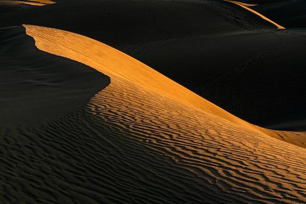 Beau coup de dunes de sable