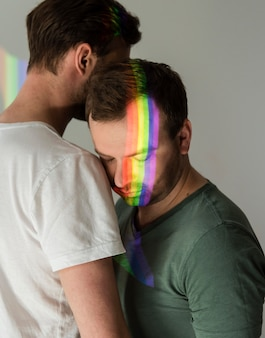 Beau couple d'homme gay