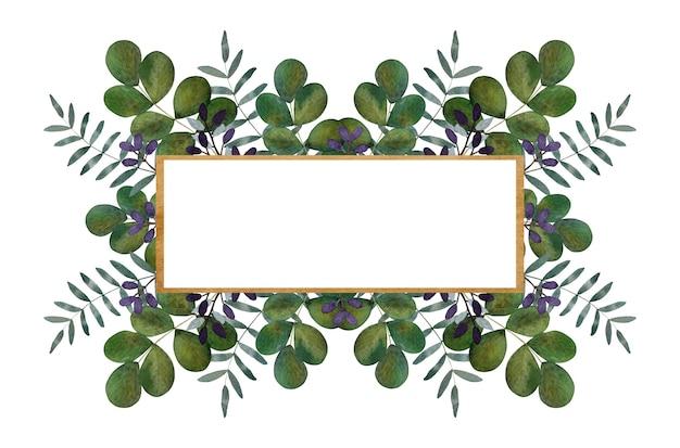 Beau dessin à l'aquarelle de fleurs aux couleurs vives et de branches vertes. gros plan, personne, texture. félicitations aux proches, parents, amis et collègues