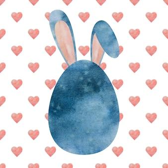 Beau dessin aquarelle d'oeufs de pâques. gros plan, pas de monde, texture. félicitations à vos proches, parents, amis et collègues