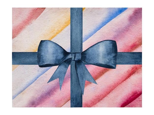 Beau dessin de boîtes avec des cadeaux. gros plan, pas de monde. peinture aquarelle. concept de shopping et de divertissement
