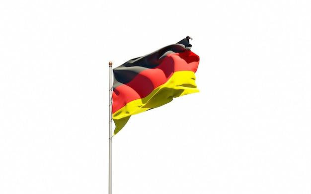 Beau drapeau national de l'allemagne