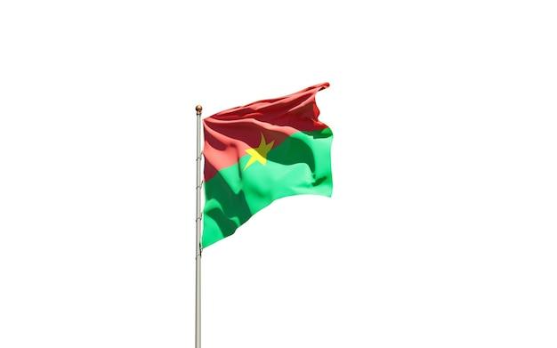 Beau drapeau national du burkina faso sur fond blanc.
