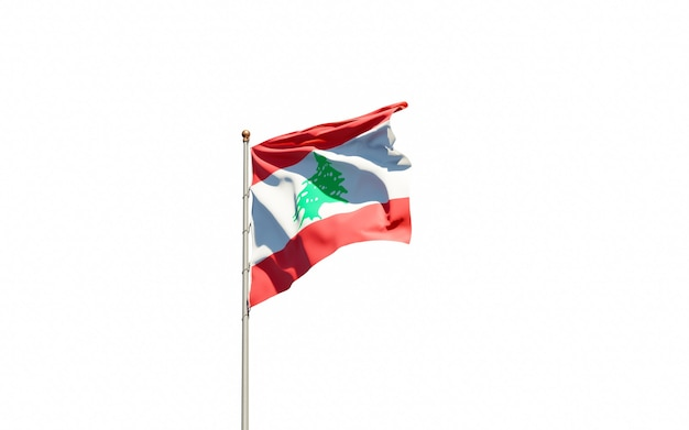 Beau drapeau national du liban