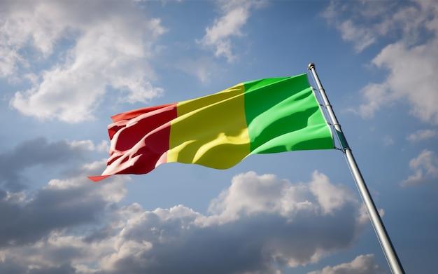 Beau drapeau national du mali flottant