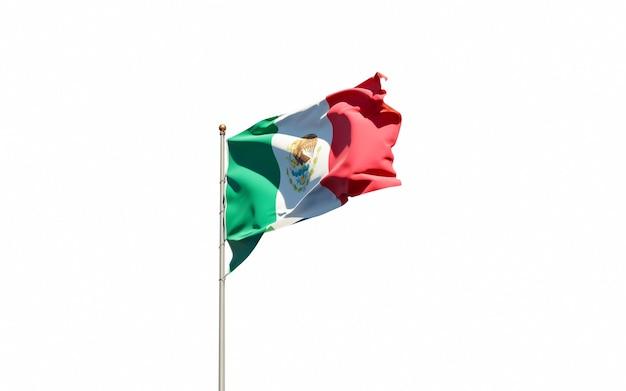 Beau drapeau national du mexique