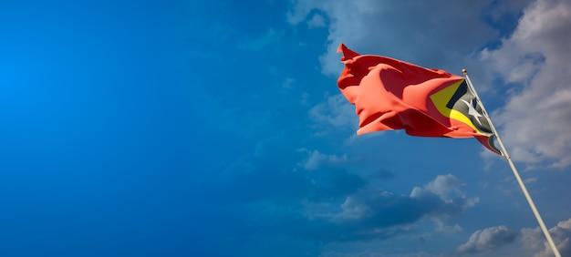 Beau drapeau national du timor oriental