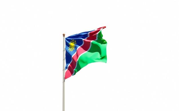 Beau drapeau national de l'état de la namibie