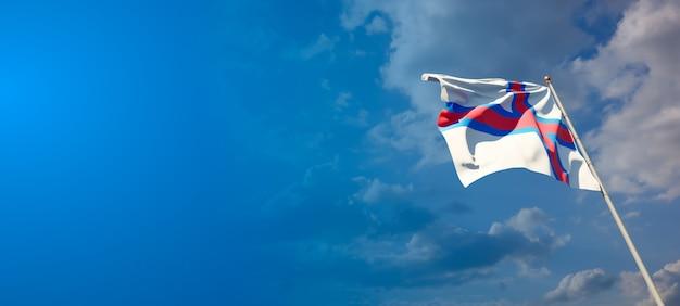Beau drapeau national des îles féroé avec un espace vide sur fond large