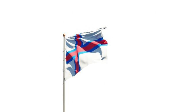 Beau drapeau national des îles féroé