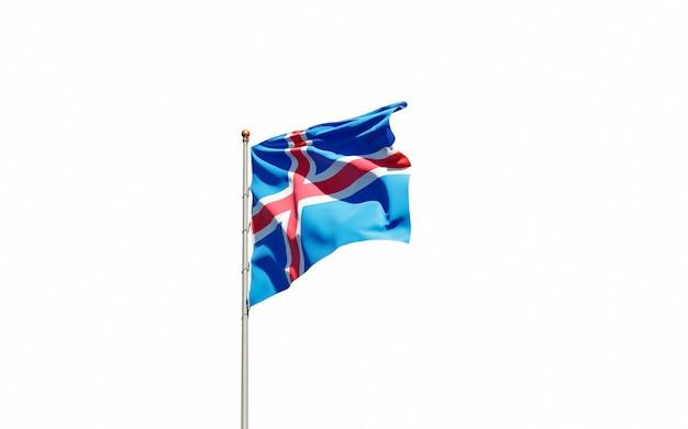 Beau drapeau national de l'islande