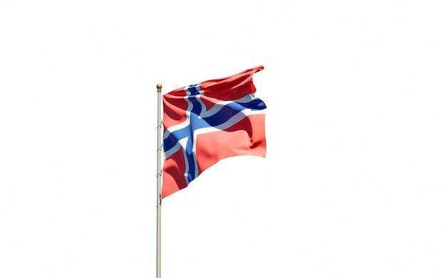 Beau drapeau national de la norvège