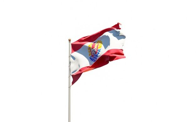 Beau drapeau national de la polynésie