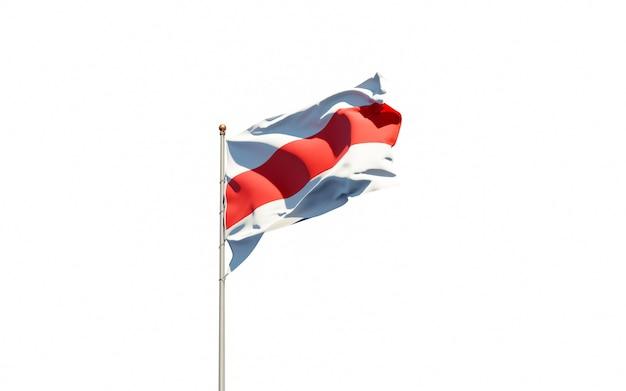 Beau drapeau national de protestation de la biélorussie