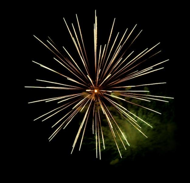 Beau feu d'artifice dans le ciel