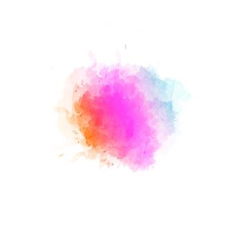 Beau fond abstrait de taches de couleur de l'eau dessinés à la main