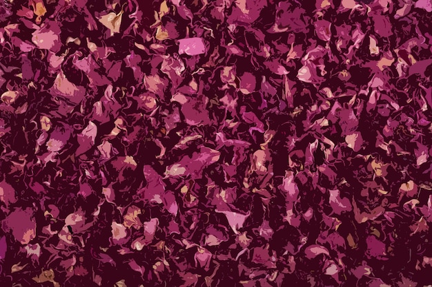 Beau fond floral abstrait sous forme d'application d'éléments de conception de pétales de rose séchés