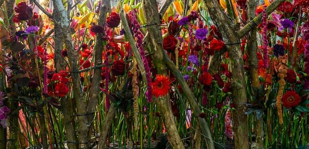 Beau fond floral. fond de fleur naturelle.