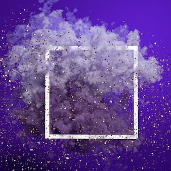 Beau fond avec de la fumée violette et de la vapeur. illustration 3d, rendu 3d.