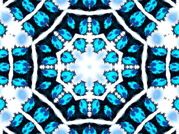 Un beau fond géométrique avec des motifs de corde et de cordon kaléidoscope pour les papiers peints