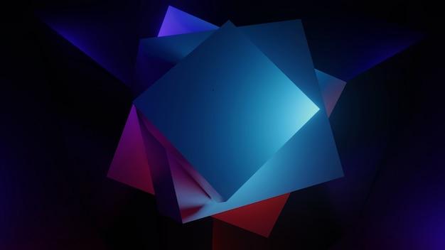 Beau fond avec illustration 3d moke uo, base de rendu 3d.