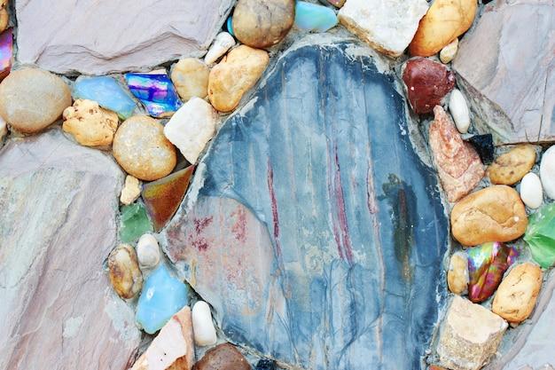Beau fond de mur en pierre