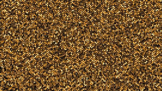 Beau fond noir avec des paillettes dorées. illustration 3d, rendu 3d.