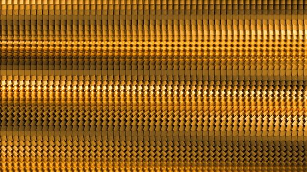 Beau fond noir avec des paillettes dorées. illustration 3d