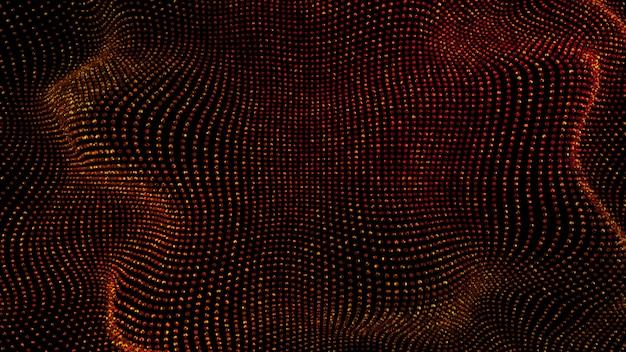 Beau fond noir avec des paillettes rouges. illustration 3d