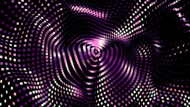 Beau fond noir avec des paillettes violettes. illustration 3d, rendu 3d.
