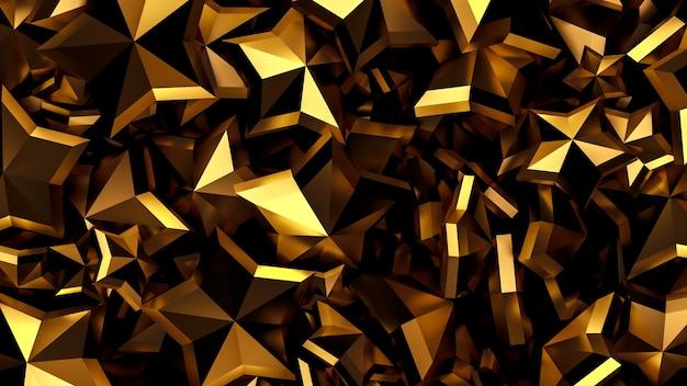 Beau fond d'or de noël de luxe avec des étoiles. illustration 3d, rendu 3d.
