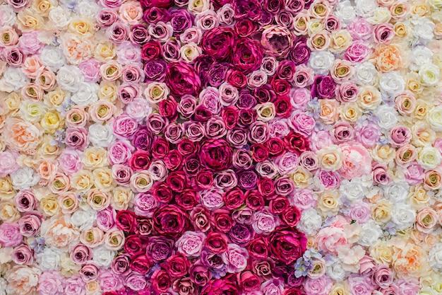 Beau fond de roses pour la saint valentin
