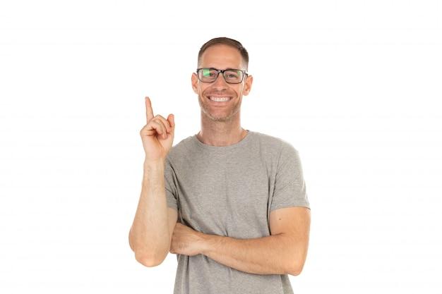 Beau mec à lunettes