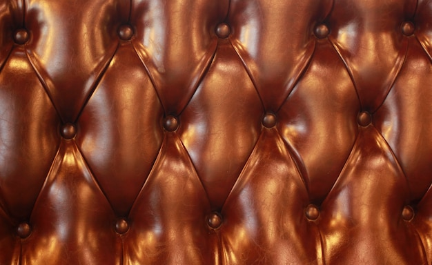 Beau motif de texture de siège en cuir marron.