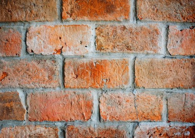 Beau mur de briques texturées classique