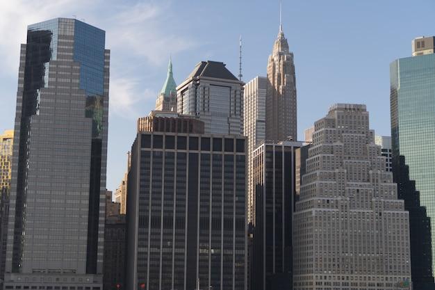 Beau panorama de new york pendant la journée