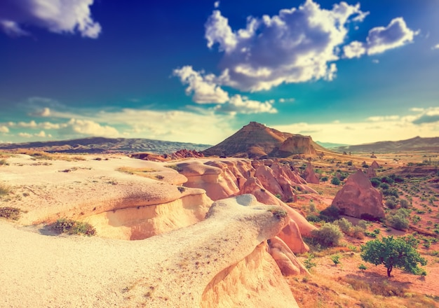 Beau paysage en cappadoce