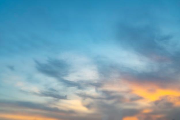 Beau paysage de ciel et de nuages