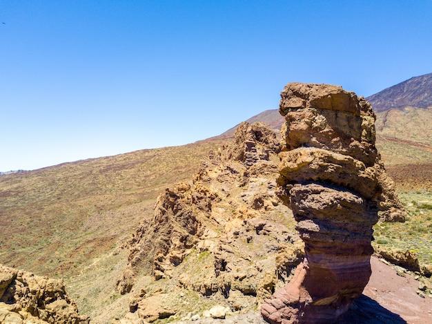 Beau paysage du volcan teide dans le parc national du teide, tenerife, canaries, espagne