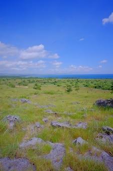 Beau paysage d'east sumba ou sumba timur, situé sur l'île de sumba, nusa tenggara timur, indonésie.
